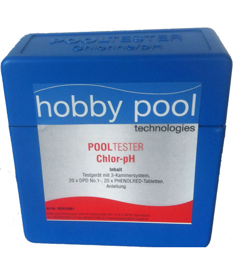 Wassertestgerät  chlor/pH in hochwertiger Box