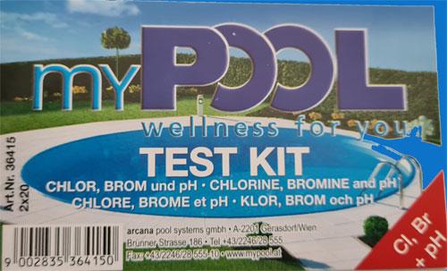 Wassertestgerät  Chlor/ Brom und pH