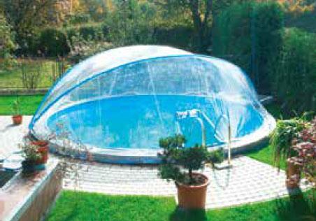 Cabrio Dome für Rundbecken mit schmalem oder breitem Handlauf