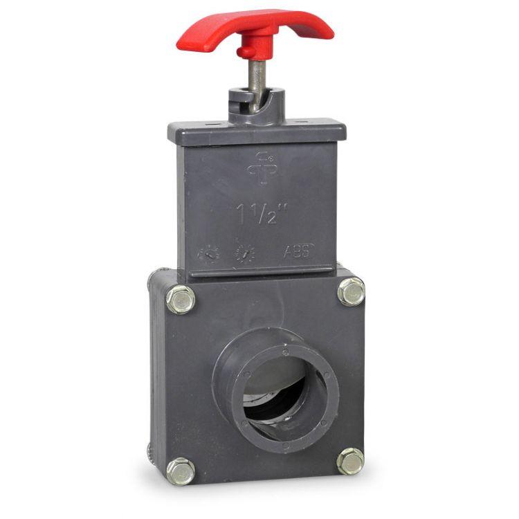 PVC Absperrschieber beidseitig d38 Tülle PVC 38mm   Pool Teich Skimmer Filter