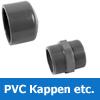 PVC Kappen + Gewindestücke