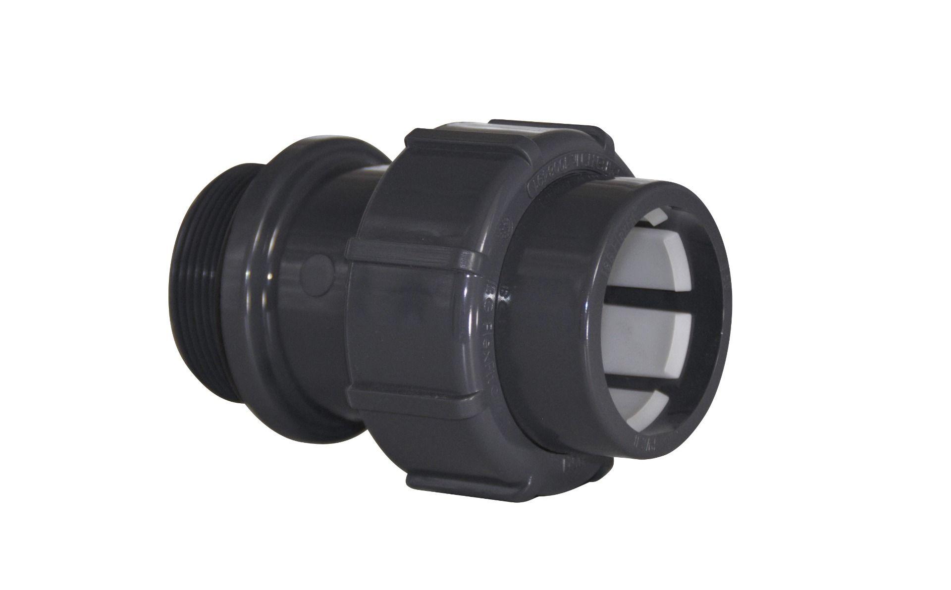 """Flex Fit Übergangsverschraubung, Ø50mm Klemm/1 1/2"""" AG m. O-Ring"""