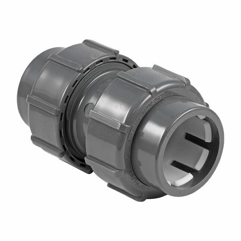 Flex Fit Doppelverschraubung, Ø50mm Klemm/Ø50mm Klemm
