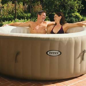 INTEX Whirlpool Pure SPA 196x71 Bubble HWS 800 für 4 Personen